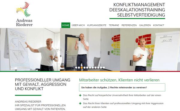 Website für Andreas Riederer (Ascha b. Straubing)