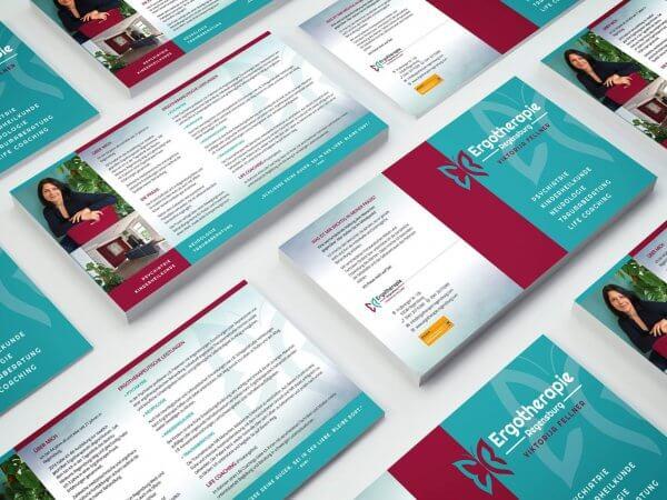 Infoflyer für Ergotehrapie-Praxis Regensburg